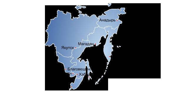 распространение в городах дальневосточный