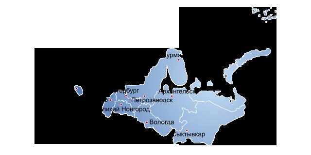 распространение в городах северо-запад
